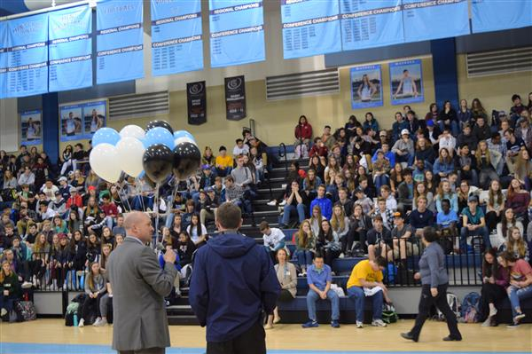 Blanton was surprised with the Principal of the Year Award in front of an assembly of students in the WHS gym.