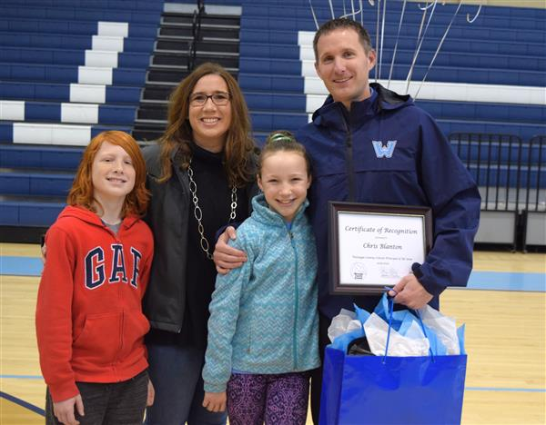 Blanton was joined at Watauga High School by his wife Dr. Morgan Blanton and children Gracyn and Jake.