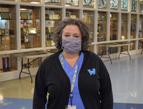 WCS Head Nurse Shelly Klutz at Watauga High School