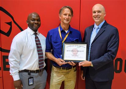 Valle Crucis' Mitchell Wright named WCS Teacher of the Year