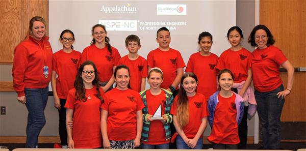 Hardin Park's Mathcounts team poses for a group photo.