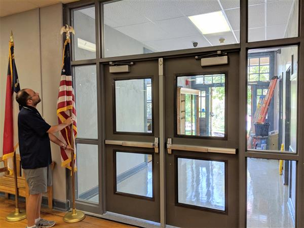 Bettis with newly installed security doors.