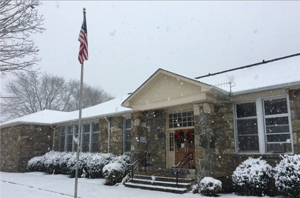 Snow covers Bethel School