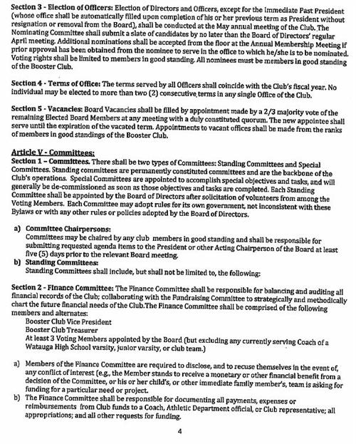 pioneer booster club booster club bylaws