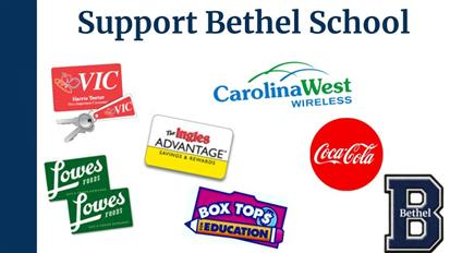 Click here to learn about ways that you can support Bethel School.  Remember that many stores require you to re-link rewards cards each year.  Thank you for supporting our school!
